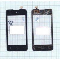 Сенсорное стекло (тачскрин) DNS S4008 черное