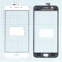 Сенсорное стекло (тачскрин) OPPO A59S белое