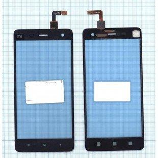Сенсорное стекло (тачскрин) Xiaomi Mi4 черное