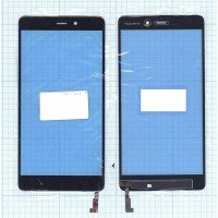 Сенсорное стекло (тачскрин) Xiaomi Mi Note черное
