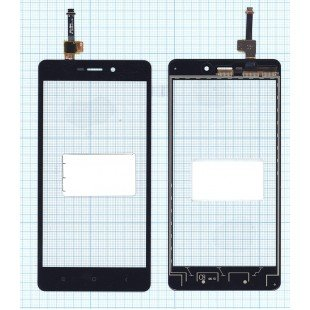 Сенсорное стекло (тачскрин) Xiaomi Redmi 3 черное