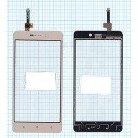 Сенсорное стекло (тачскрин) Xiaomi Redmi 3 золотое
