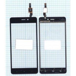 Сенсорное стекло (тачскрин) Xiaomi Redmi 4 черное