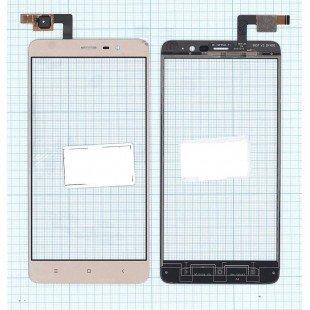 Сенсорное стекло (тачскрин) Xiaomi Redmi Note 3 Pro золотое