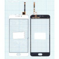 Сенсорное стекло (тачскрин) Meizu M3 Note белое