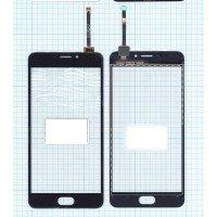 Сенсорное стекло (тачскрин) Meizu M5 Note черное