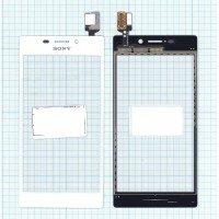 Сенсорное стекло (тачскрин) Sony Xperia M2 / M2 Dual белое