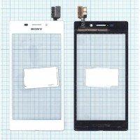Сенсорное стекло (тачскрин) Sony Xperia M2 Aqua белое