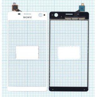 Сенсорное стекло (тачскрин) Sony Xperia C4 белое