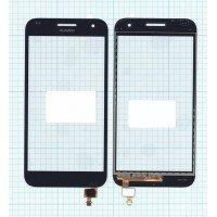 Сенсорное стекло (тачскрин) Huawei Ascend G7 черный