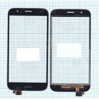 Сенсорное стекло (тачскрин) Huawei G7 Plus черный