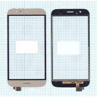 Сенсорное стекло (тачскрин) Huawei G7 Plus золотой