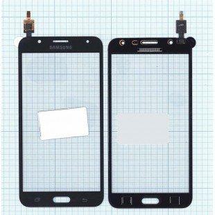 Сенсорное стекло (тачскрин) Samsung Galaxy J7 SM-J700F черное