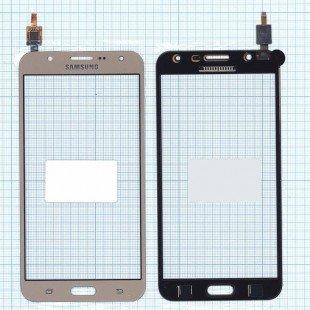 Сенсорное стекло (тачскрин) Samsung Galaxy J7 SM-J700F золотистое