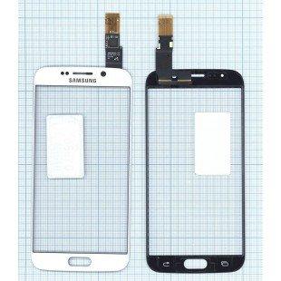 Сенсорное стекло (тачскрин) Samsung Galaxy S6 Edge белое