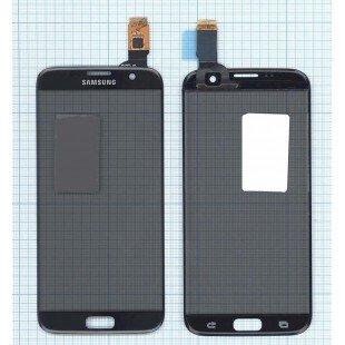 Сенсорное стекло (тачскрин) Samsung Galaxy S7 Edge черное