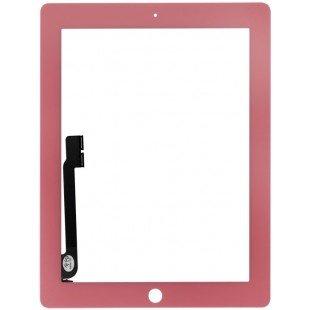 Сенсорное стекло (тачскрин) iPad 3/4 розовое