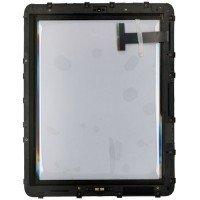 Сенсорное стекло (тачскрин) iPad 1 черное с рамкой