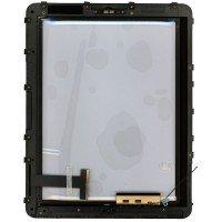 Сенсорное стекло (тачскрин) iPad 1 черное с рамкой 3G