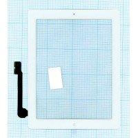 Сенсорное стекло (тачскрин) iPad 3 белое с кнопкой