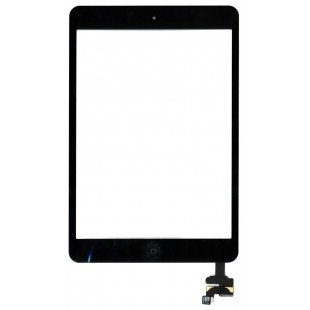 Сенсорное стекло (тачскрин) Ipad mini + cable черное OEM