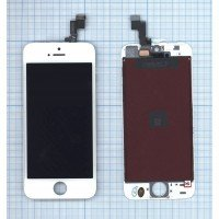Модуль (матрица + тачскрин) в сборе для Apple iPhone 5S (JDF) белый