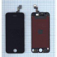 Модуль (матрица + тачскрин) в сборе для Apple iPhone 5S (JDF) черный
