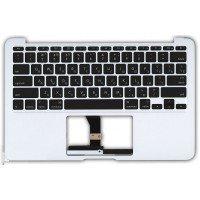 Клавиатура для ноутбука Apple MacBook Air A1465 2012+ топ-панель (RU) черная