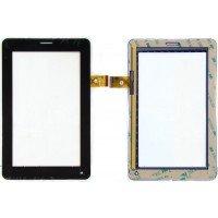 Сенсорное стекло (тачскрин) Мегафон Логин 2 (MT3A), TPC1219 Ver1.0, черное [T00110]