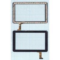 Сенсорное стекло (тачскрин) DH-0926A1-PG-FPC080-V3.0 черное [T00129]