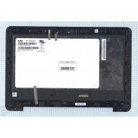 Модуль (матрица + тачскрин)  Asus EeeBook E205SA черный с рамкой
