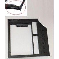 Переходник дополнительного HDD/SSD SATA-III кредл в отсек CD/DVD 9.5 mm [HDDROM-9]