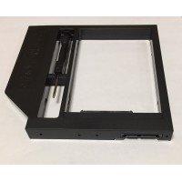 Переходник дополнительного HDD/SSD SATA-III кредл в отсек CD/DVD 12.7 mm, пластик [HDDROM-12P]
