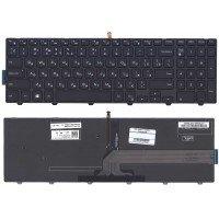 Клавиатура для ноутбука Dell Inspiron 15-3000 15-5000 5547 5521 5542 (RU) черная с подсветкой [10210]