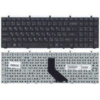 Клавиатура для ноутбука DNS 0170720 Clevo W350 w370 (RU) черная (плоский ENTER)