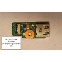 *Б/У* Плата расширения USB №1  для ноутбука HP DV6 - 3110ER (DALX6TB14D0 Rev: D) [BUR0028-7]
