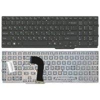 Клавиатура для ноутбука Sony VAIO SVS15 черная (RU) с подсветкой Плоский ENTER