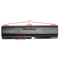 Аккумуляторная батарея для ноутбука  HP Pavilion DV4, DV5, DV6 CQ40 CQ50  (10.8/11.1 В 4400 мАч) [B0056]