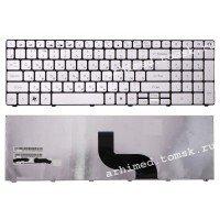Клавиатура для ноутбука Packard Bell TM81 TM86 TM87 TM89 TM94 TX86/NV50 (RU) серебристая