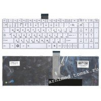 Клавиатура для ноутбука Toshiba Satellite C850, C870, C875 (RU) белая [10159]