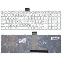 Клавиатура для ноутбука Toshiba l50d-a l70-a s50-a s50d-a s70d-a (RU) белая [10205]