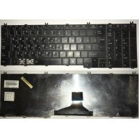 *Б/У* Клавиатура для ноутбука Toshiba Satellite C650, C660, C670, C750, L650, L670, L750, L770 (RU) черная (PK130CK2A11) [BUR0059-3], с разбора