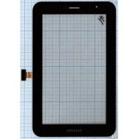 Сенсорное стекло (тачскрин) Samsung Galaxy Tab 7.0 Plus P6200 черное [T0019]